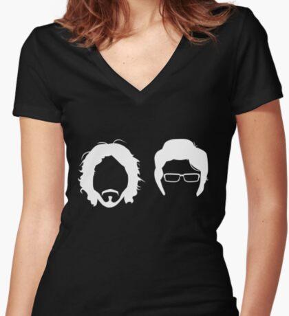 FL_GHT OF TH_ C_NCH_RDS (R_V_RS_D) Women's Fitted V-Neck T-Shirt