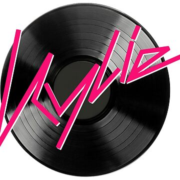 Kylie Minogue - record (black and pink) by shadoboxer