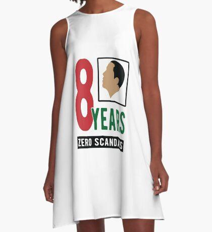 Obama 8 Years Zero Scandals A-Line Dress