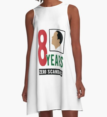 Obama 8 Years Zero Scandals A-Line Dress
