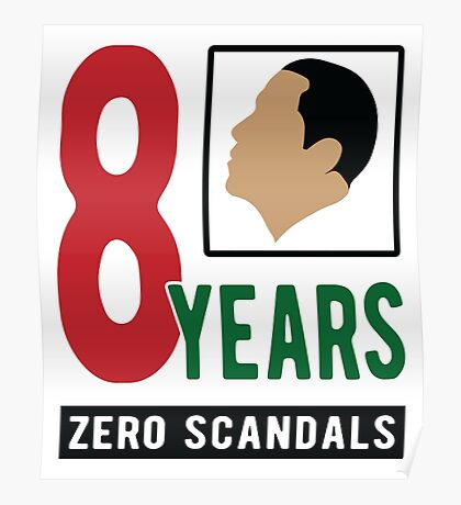 Obama 8 Years Zero Scandals Poster