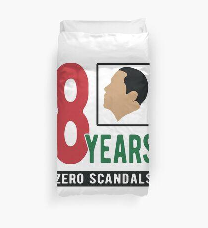 Obama 8 Years Zero Scandals Duvet Cover