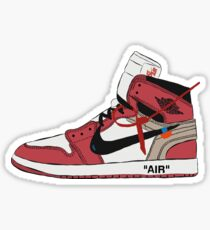 Off-White Jordan 1 Red Sticker