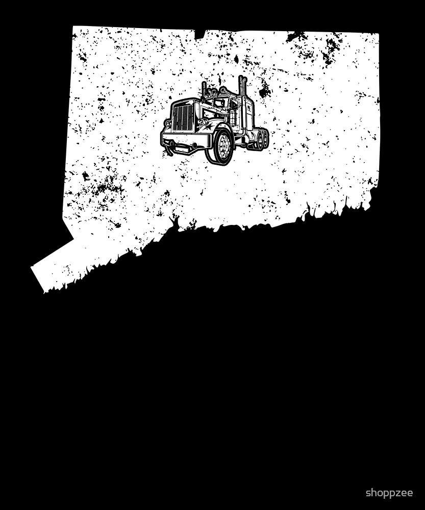 Connecticut Long Haul Trucker Shirt 18 Wheeler Truck Shirt by shoppzee