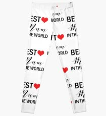 Best Mum in the World Mother's Day Gifts Leggings