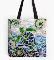 Turtle Mosaic Tote Bag