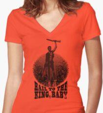 BRUCE Women's Fitted V-Neck T-Shirt