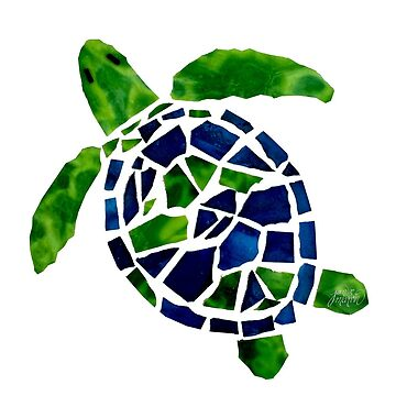 Turtle Mosaic Cutout by janmarvin