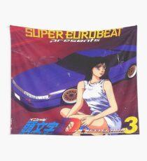 Initial D Mako Super Eurobeat Anime  Wall Tapestry
