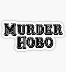 Murder Hobo (Black) Sticker