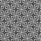 Triangle Pattern Black And White by artsandsoul