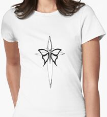 Butterfly Cross Womens Fitted T-Shirt