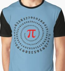 Pi, π, spiral, Science, Mathematics, Math, Irrational Number, Sequence Graphic T-Shirt