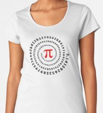 Pi, π, spiral, Science, Mathematics, Math, Irrational Number, Sequence Women's Premium T-Shirt
