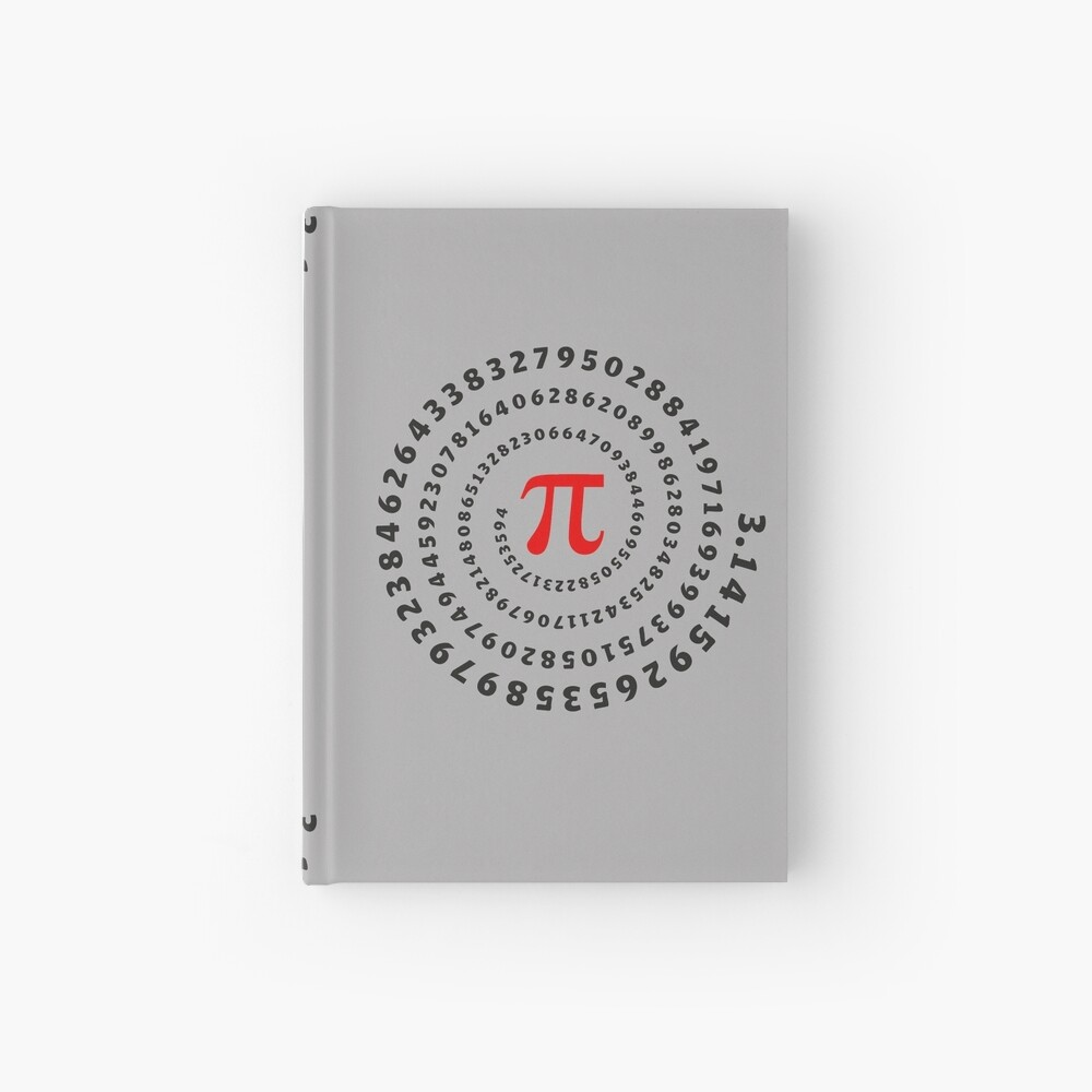 Pi, π, spiral, Science, Mathematics, Math, Irrational Number, Sequence Hardcover Journal