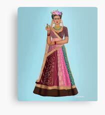 Indischer Frida Kahlo Metalldruck