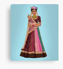 Indian Frida kahlo Canvas Print