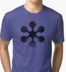 Circle Study - Black Tri-blend T-Shirt