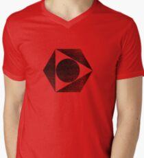 Tri Circle - Black Mens V-Neck T-Shirt