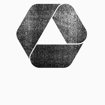 Overlap - Black by RetroLogos