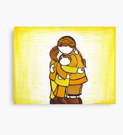 Our Sunny Family Canvas Print