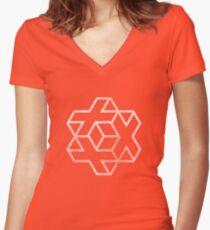 IsoCross - White Women's Fitted V-Neck T-Shirt