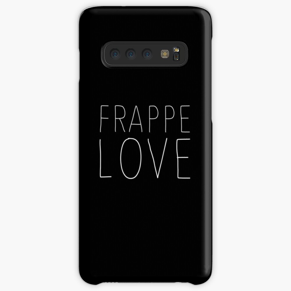 Frappe Love - Funny Iced Coffee T-Shirt for Coffee Lovers Hülle & Klebefolie für Samsung Galaxy