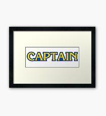 captain capcom logo Framed Print