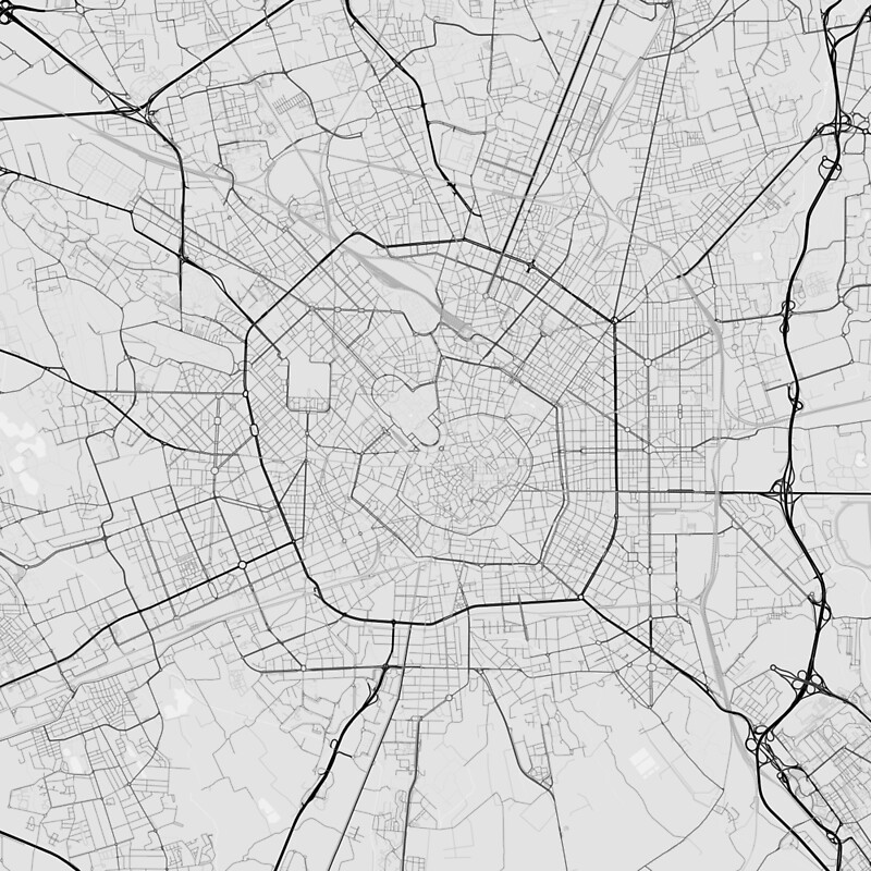 Milano italy map black on white scarves by graphical maps milano italy map black on white gumiabroncs Image collections