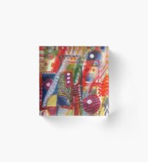 Abstract with jug Acrylic Block