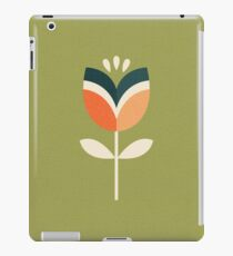 Retro Tulip - Orange and Olive Green iPad Case/Skin