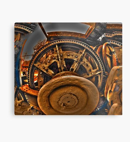 Mechanical Managerie of Gears Metal Print