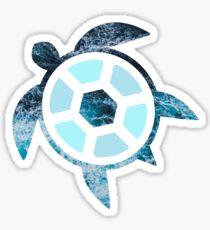 Blue Waves Sea Turtle  Sticker
