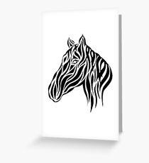Tribal Horse Design Greeting Card
