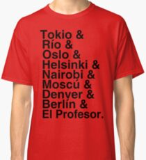 Helvetica rotes papel Classic T-Shirt