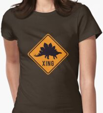 Prehistoric Xing - Stegosaurus Women's Fitted T-Shirt