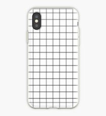 White Aesthetic Grid iPhone Case