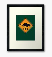 Prehistoric Xing - Triceratops Framed Print