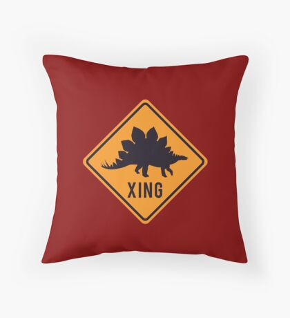 Prehistoric Xing - Stegosaurus Throw Pillow
