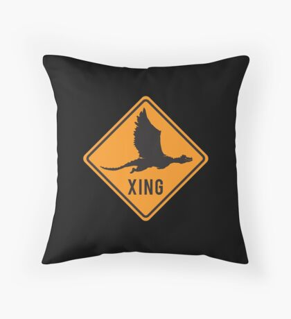 Crypto Xing - Dragon Throw Pillow