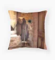 Coats and Brooms Throw Pillow