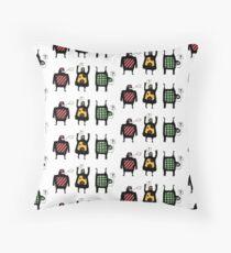 Totem people Throw Pillow