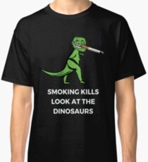 Funny Smoking Cigarette Dinosaur T-Rex Classic T-Shirt