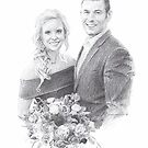 Newlyweds drawing by Mike Theuer