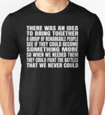 There was an idea Unisex T-Shirt