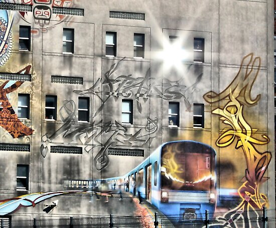 Metro Street Art In Montreal Quebec Canada  by terrebo