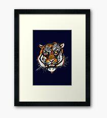 Smart Tiger Framed Print