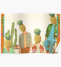 Glass Animals Pineapple Heads Poster