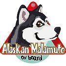 Alaskan Malamute On Board - Black by DoggyGraphics