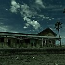 Merildin Abandoned Railway Station in Moonlight by pablosvista2